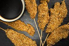 Chicken Skewers with Dukkah Crust