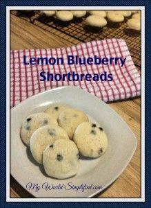 lemon bluebery shortbread cookies