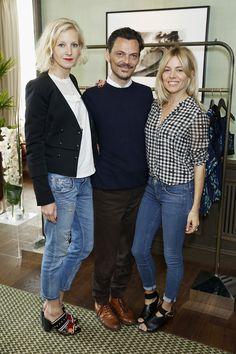 Savannah Miller, Matthew Williamson and Sienna Miller at the Matthew Williamson Sportswear Brunch Launch.