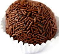 Brigadeiro! So easy to make, Brazillian candies..my mom learned to make them when we lived in Brazil, and we STILL love them :)