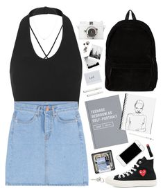 """I just wanna loved by you."" by bomlion ❤ liked on Polyvore featuring Kiki de Montparnasse, Topshop, Play Comme des Garçons, Ann Demeulemeester, Made Her Think, Anine Bing, J.Crew, Bobbi Brown Cosmetics and Paul Smith"