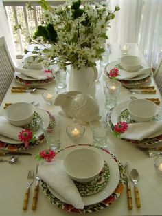 Easter or Spring Table Setting with Kim Parker, Emma's Garland Dishware