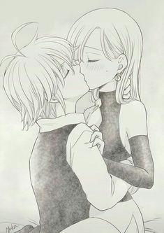 Elizabeth Seven Deadly Sins, Seven Deadly Sins Anime, 7 Deadly Sins, Anime Couple Kiss, Cute Anime Couples, Ichigo Y Rukia, Meliodas And Elizabeth, Image Couple, Anime Amor