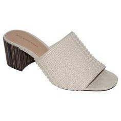 Women's Who What Wear™ Felicity Macrame Strap Block Heel Slide Sandals : Target