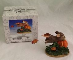 Charming Tails Autumn Breezes Fitz And Floyd Figurine 85/501 Mouse Pumpkin Fall