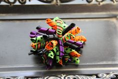 The Perfect Halloween Korker Hairbow by ruffles2ribbons on Etsy, $4.00