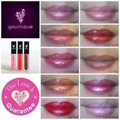 Beautiful glosses in a variety of colors to meet anyone's style.  Each one comes with a built in mirror as well.