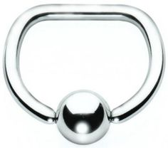 Surgical Steel D Ring