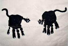 Halloween Handprint Cats Craft