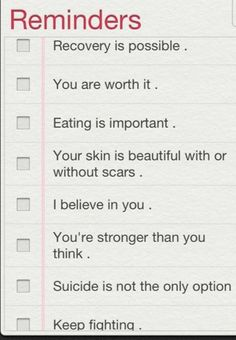Daily Reminders. If you look at this and it helps you, you are amazing!