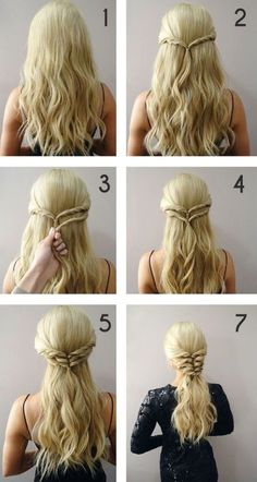 170 Easy Hairstyles Step by Step DIY hair-styling can help you to stand apart fr. - 170 Easy Hairstyles Step by Step DIY hair-styling can help you to stand apart from the crowds Cute Braided Hairstyles, Romantic Hairstyles, Cool Hairstyles, Hairstyle Ideas, Super Easy Hairstyles, Hair Extension Hairstyles, Hairstyles With Extensions, Cute Simple Hairstyles, Teenage Hairstyles