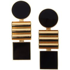 ÉGOTIQUE Earrings (€175) ❤ liked on Polyvore featuring jewelry, earrings, accessories, joias, black and earrings jewelry