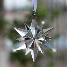 Swarovski Snowflake, Swarovski Ornaments, Star Ornament, Snowflakes, Christmas Ornaments, Stars, Crystals, Holiday Decor, Collection