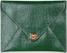 Jade Diy Envelope, Envelope Clutch, Verde Jade, Julia Cameron, Green Clutches, Peridot, Green Colors, Craft Ideas, Michael Kors