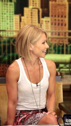Seriously...I'm no Kelly Ripa, but I cut my hair similar to this yesterday! DO it LIZ!