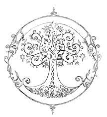 elven tree of life - tattoo idea, some detail for the piece on my shoulder :)