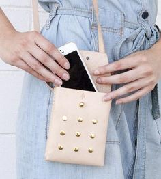 Small Studded Leather Crossbody Bag by Ames Arrow on Scoutmob Shoppe