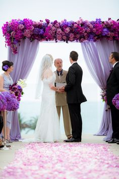 A Regal Purple California Wedding From The Youngrens photography - purple wedding ceremony idea