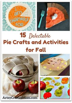 get into the spirit of fall and pies with some delectable pie crafts and activities for kids to make this fall. Don't blame us  if you start craving a piece of piping hot pie with these!