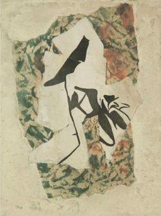 Collage by Hans Arp (1887-1966), 1947, Dessin déchiré coloré.