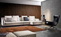 Allen sofas from minotti architonic. Flur Design, Hall Design, Comfortable Living Rooms, Couch Furniture, Contemporary Sofa, Villas, Living Spaces, Interior Design, Home Decor