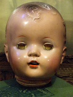 Creepy Antique Doll Head