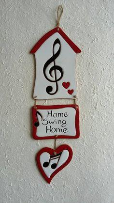 ceramica come mestiere: Decoro per la casa. Nota musicale per una famiglia...