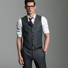 Loveee matte suits with a vest! Tuxes look too formal and shiny.