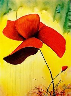 """Artist Kyle Brock; Painting, """"Poppies"""""""
