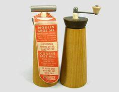 Marlux Wood Salt & Pepper Mills Beechwood MCM Spice by PJsParadise
