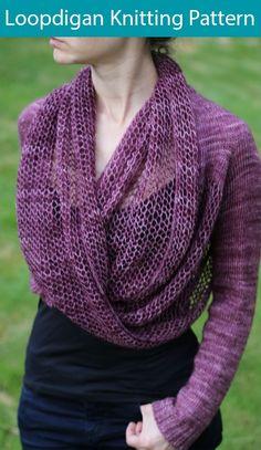 Knitting Patterns dress Loopdigan Knitting pattern by Jenny Faifel Sweater Knitting Patterns, Loom Knitting, Knit Patterns, Free Knitting, Infinity Scarf Knitting Pattern, Knit Sweaters, Knit Shrug, Knit Cowl, Fingering Yarn