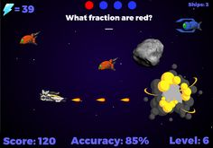 Fraction Fighters: Name fractions or have students work with adding, subtracting, multiplying, dividing, and reducing fractions. RoomRecess.com