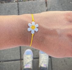 Daisy Bracelet, Macrame Cord, Handmade Bracelets, Bracelet Making, Bloom, Yellow, Rose, Flowers, Etsy Shop