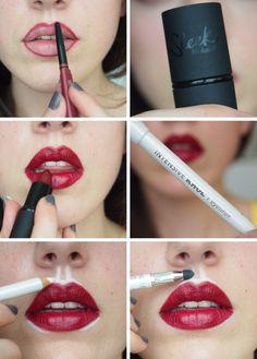 bigger lips tutorial, sleek cosmetics