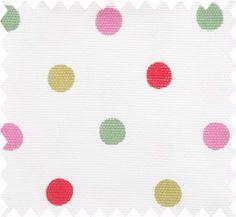 Dotty Cotton Duck - curtain fabric.