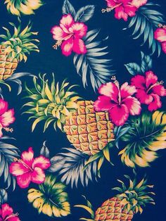 Image via We Heart It #colorido #cute #flowers #lindo #pineapple #tropical…