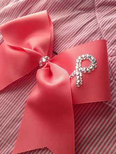 Breast cancer bow  on Etsy, $8.00
