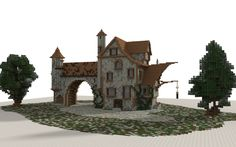 Medieval house i made in minecraft. Download link: http://www.minecraft-schematics.com/schematic/5571/