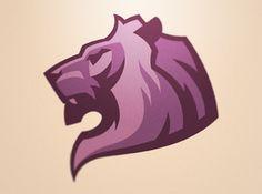 Lion - Enjoy the color pallet. Not the obvious choice Typography Logo, Logo Branding, Logo Lion, Soccer Logo, Game Logo Design, Sports Team Logos, Logo Creation, Mascot Design, Logo Concept