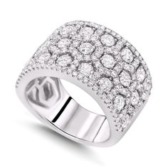 Wide Band Diamond Rings Diamond Rings Extra Wide Round and
