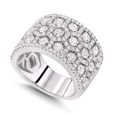Wide Band Diamond Engagement Rings | Diamond Wedding Bands ...