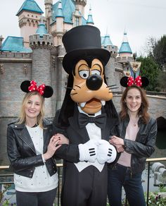 """Actors Laura Carmichael and Michelle Dockery, known to millions as feuding sisters Lady Edith Crawley and Lady Mary Crawley on the award-winning television series """"Downton Abbey,"""" visited the Disneyland Resort during a recent trip to Los Angeles."""