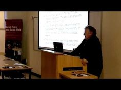 What is Social Policy? - Lecture by Professor Jonathan Bradshaw for prospective students - YouTube