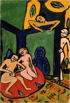 Erich Heckel, Studio scene, 1910-11