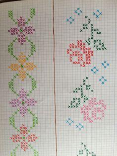 Cross Stitch Rose, Cross Stitch Borders, Cross Stitch Baby, Cross Stitch Flowers, Cross Stitch Embroidery, Ribbon Embroidery, Button Hole Stitch, Chain Stitch, Cross Stitch Collection