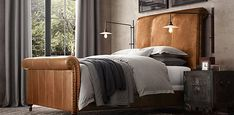 master bedroom - Ellsworth Bed (Leather) | Restoration Hardware