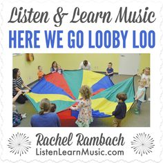 """Download the lyrics, chords, mp3 and instrumental track for """"Here We Go Looby Loo"""" adapted and recorded by Rachel Rambach, a board-certified music therapist and singer/songwriter.  Here We … Lets Play Music, Reading Music, Music Therapy, Music Classroom, Instrumental, Kids Learning, Lyrics, Track, Singer"""