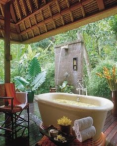 Outdoor bath tubs are increasing in popularity...