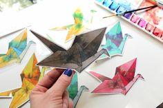 Vinyl Sticker Paper Crane Paper Crane Sticker by sandraculliton
