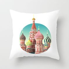 Saint Basil's Cathedral Throw Pillow by FalcaoLucas - $20.00 St Basils Cathedral, St Basil's, Saints, Throw Pillows, Christmas Ornaments, Holiday Decor, Home Decor, Art, Products